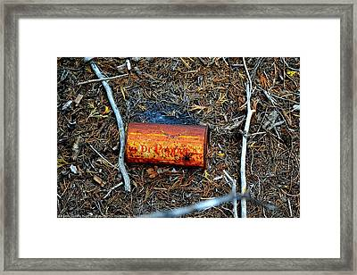 ''man On The Move No.1'', Wed--21may2014 Framed Print by Robert 'Standing Eagle'