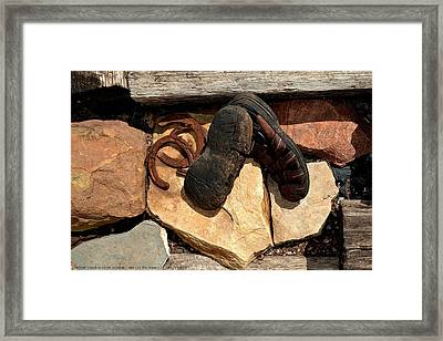 ''man On The Move No.2'', Sat--21mar2015 Framed Print by Robert 'Standing Eagle'