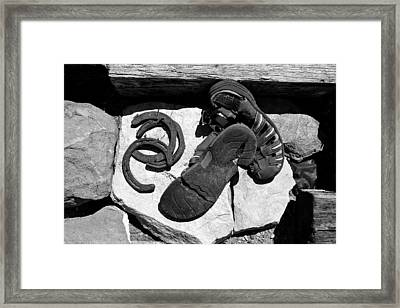 ''man On The Move No.2a'', B-w, Thu--3sep2015 Framed Print by Robert 'Standing Eagle'