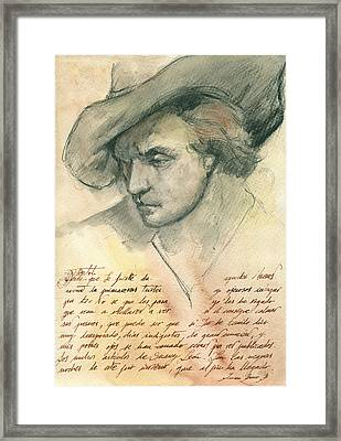 Man Study Framed Print by Juan Bosco