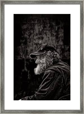 Man With A Beard Framed Print by Bob Orsillo