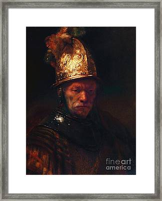 Man With The Golden Helmet Framed Print by Pg Reproductions