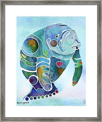 Manatee Blues Framed Print by Jo Lynch