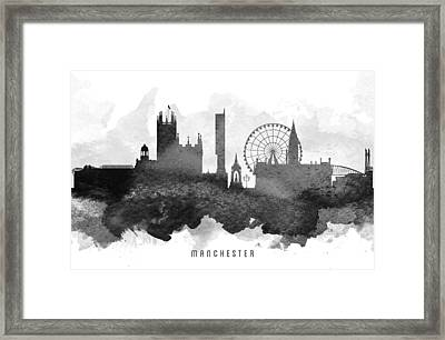 Manchester Cityscape 11 Framed Print by Aged Pixel