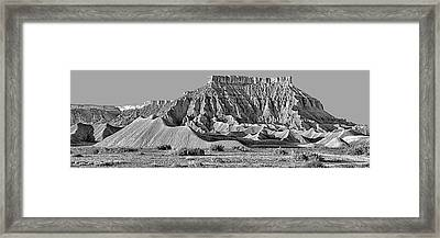 Mancos Shale - Geology - Utah - Black And White Framed Print by Nikolyn McDonald
