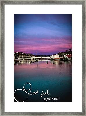 Mandal Julekort Framed Print by Mirra Photography