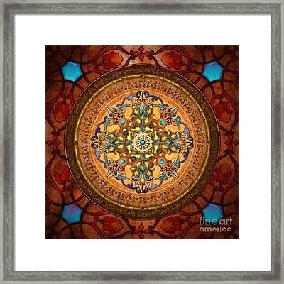 Mandala Arabia Framed Print by Bedros Awak