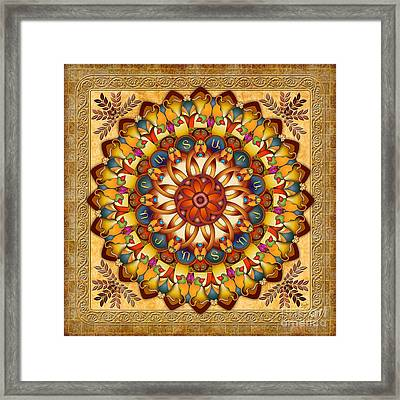 Mandala Ararat V2 Framed Print by Bedros Awak