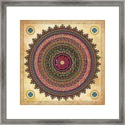 Mandala Armenian Decorative Art Framed Print by Bedros Awak