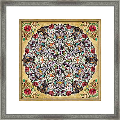 Mandala Elephants Framed Print by Bedros Awak