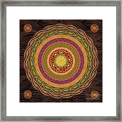 Mandala Embrace Framed Print by Bedros Awak