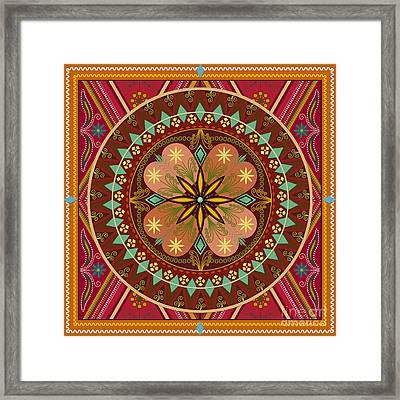 Mandala Esmeralda Framed Print by Bedros Awak