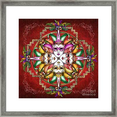 Mandala Festival Masks V2 Framed Print by Bedros Awak