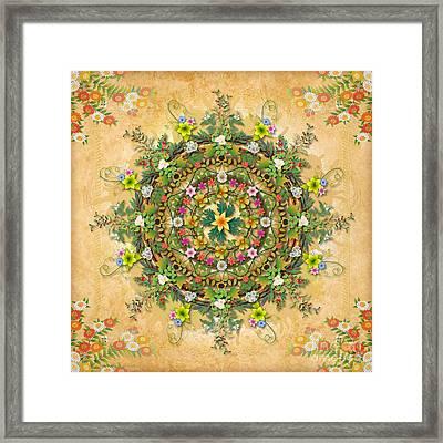 Mandala Flora Framed Print by Bedros Awak