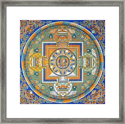 Mandala From Lhasa Framed Print by Birgit Moldenhauer