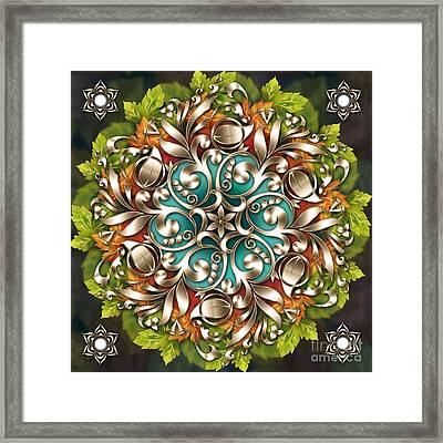 Mandala Metallic Ornament Framed Print by Bedros Awak