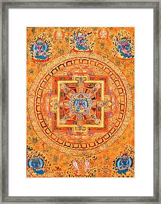 Mandala Of Heruka In Yab Yum Framed Print by Lanjee Chee