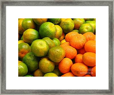 Mandarins And Tangerines Framed Print by Yali Shi