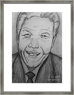 Mandela Art Framed Print by Collin A Clarke