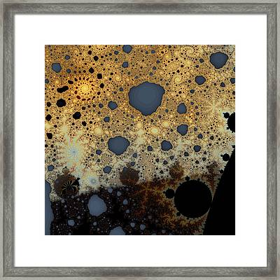 Mandelbrot Ghost And Lace Framed Print by Mark Eggleston