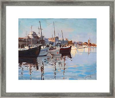 Mandraqi Rhodes Greece Framed Print by Ylli Haruni