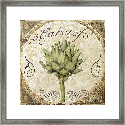 Mangia Carciofo Artichoke Framed Print by Mindy Sommers