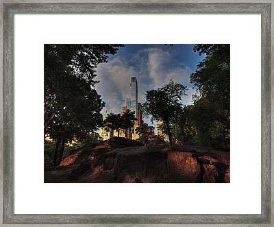 Manhattan - Central Park 002 Framed Print by Lance Vaughn