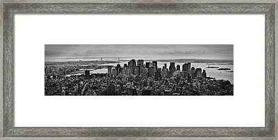 Manhattan Cityscape Framed Print by Andreas Freund