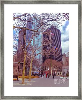 Manhattan Framed Print by Claudia M Photography