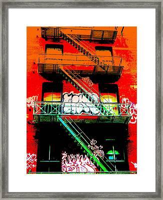 Manhattan Fire Escape Framed Print by Funkpix Photo Hunter