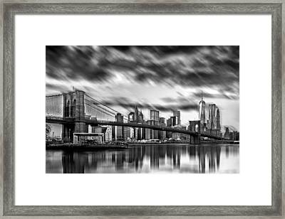 Manhattan Moods Framed Print by Az Jackson