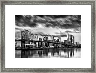 Manhattan Moods Framed Print by Az Jackson