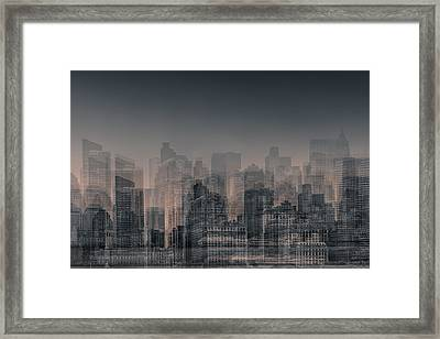 Manhattan Moves Framed Print by Az Jackson
