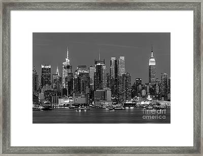 Manhattan Twilight Iv Framed Print by Clarence Holmes