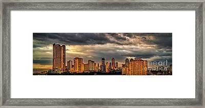 Manila Cityscape Framed Print by Adrian Evans
