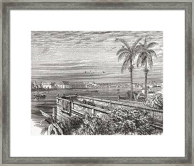 Manila, Philippines In The 19th Framed Print by Vintage Design Pics