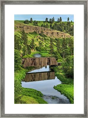 Manning-rye Bridge Framed Print by Mark Kiver