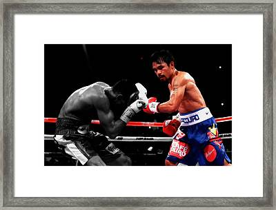 Manny Pacquiao And Chris Algieri Framed Print by Brian Reaves