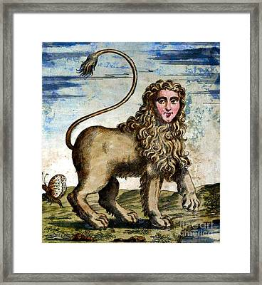 Manticore Framed Print by Photo Researchers