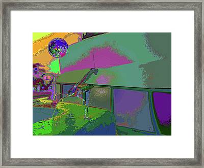 Mantis In Your Shade Of Play  Framed Print by Kenneth James