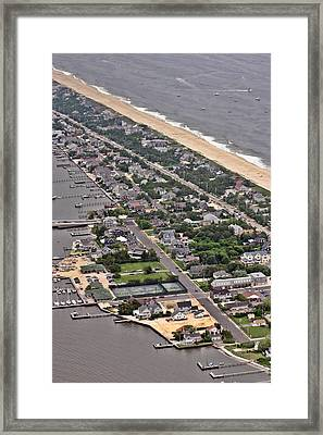Mantoloking Barnegat Atlantic Framed Print by Duncan Pearson