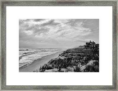 Mantoloking Beach - Jersey Shore Framed Print by Angie Tirado