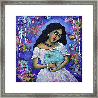 Mantras Framed Print by Carla Golembe