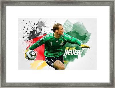Manuel Neuer Framed Print by Semih Yurdabak