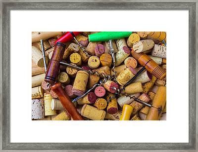 Many Corkscrews Framed Print by Garry Gay
