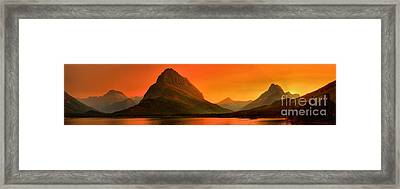 Many Glacier Sunset Spectacular Framed Print by Adam Jewell