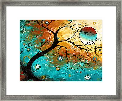 Many Moons Ago By Madart Framed Print by Megan Duncanson