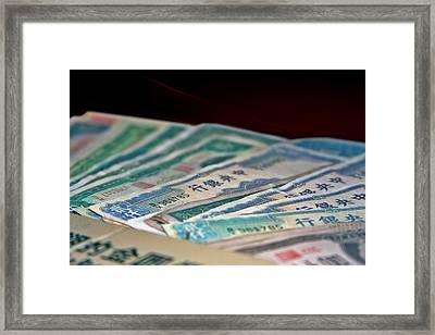 Mao Is In Every Chinese Pocket Framed Print by Christine Till