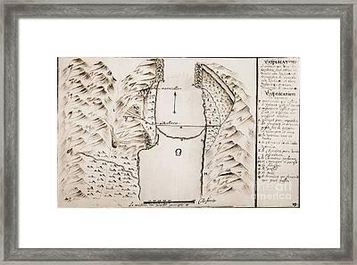 Map: Danube Framed Print by Granger