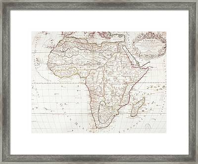Map Of Africa Framed Print by Fototeca Storica Nazionale